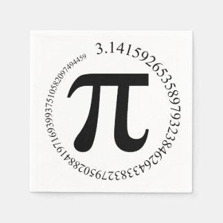 Pi (π) Day Disposable Napkin