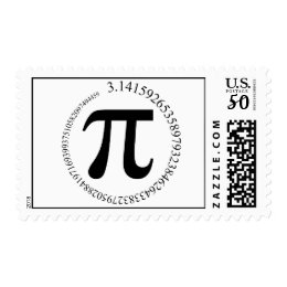 Pi (π) Day Postage