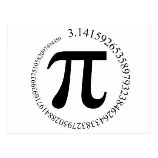 Pi (π) Day Postcard at Zazzle