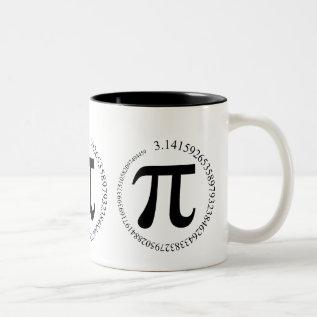 Pi (π) Day Two-tone Coffee Mug at Zazzle