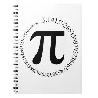 Pi - π spiral note books