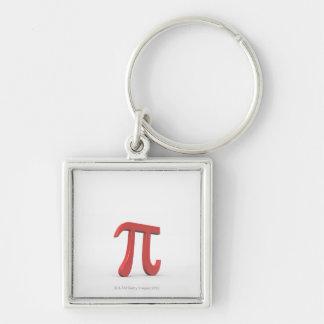 Pi 2 Silver-Colored square keychain