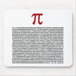¡Pi = 3,141592653589 etc etc… lo que! Mouse Pad