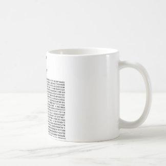 ¡Pi = 3,141592653589 etc etc… lo que! Taza De Café