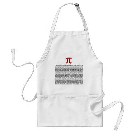 Pi = 3.141592653589 etc etc... whatever! adult apron