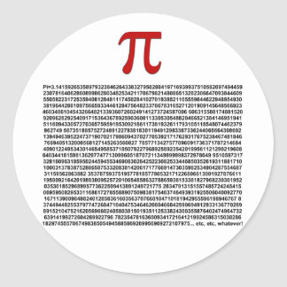 Pi = 3.141592653589 etc etc... whatever! classic round sticker