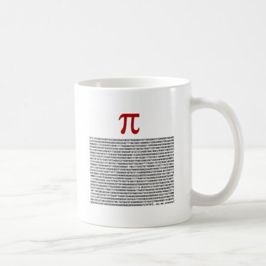 Pi = 3.141592653589 etc etc... whatever! coffee mug