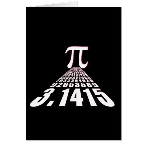 Pi, 3.141592653 greeting cards