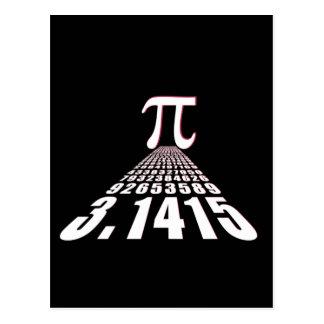 Pi, 3.141592653 postcard