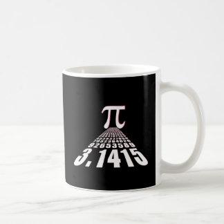 Pi, 3,141592653 taza básica blanca