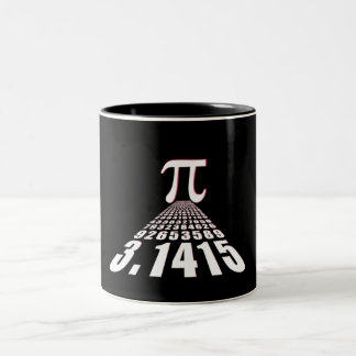 Pi, 3.141592653 Two-Tone coffee mug