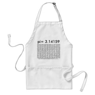pi= 3.14159 and so on Math Science pi Day Digits Adult Apron
