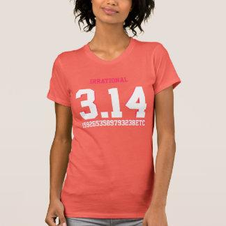 Pi 3.14 1592653589793238etc Irrational Ladies T Shirt