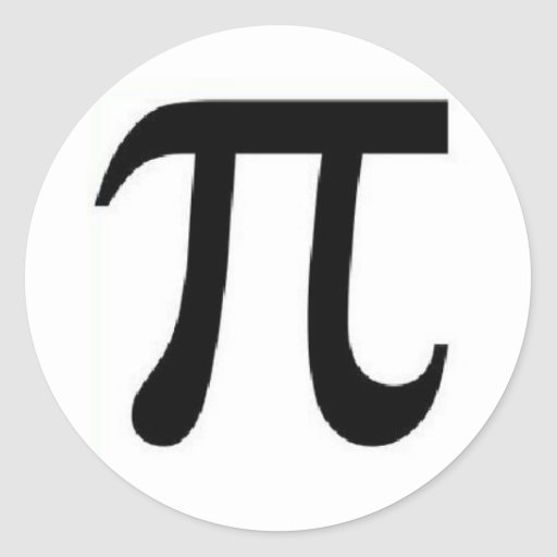 pi 3.14 classic round sticker