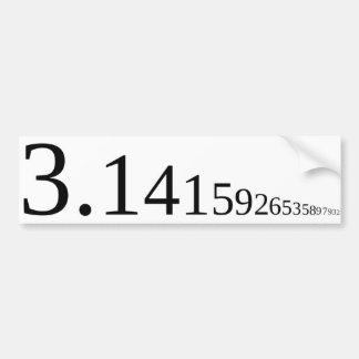 Pi - 3,14… pegatina para auto