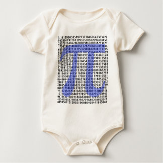 Pi 3.14 to Hundred of Digits Baby Bodysuit