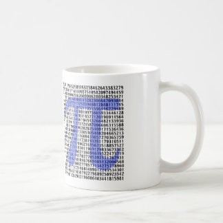Pi 3.14 to Hundred of Digits Coffee Mug