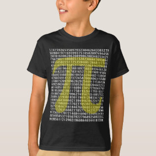 Pi 3.14 to Hundred of Digits T-Shirt at Zazzle
