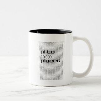 Pi a 10000 lugares taza de café