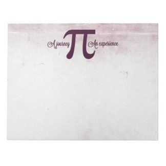Pi: A Journey. An Experience Memo Notepads