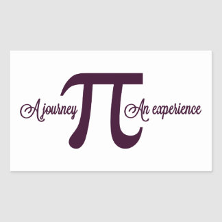 Pi: A Journey. An Experience Rectangle Stickers