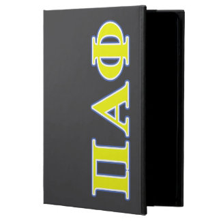 Pi Alpha Phi Yellow and Blue Letters iPad Air Case