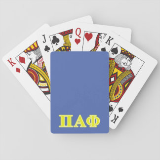 Pi Alpha Phi Yellow Letters Deck Of Cards