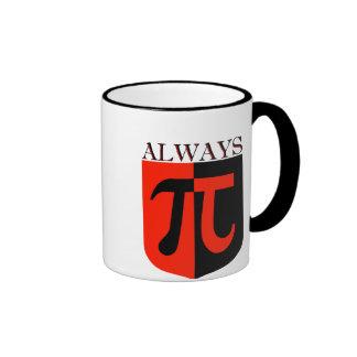 Pi Always Ringer Coffee Mug