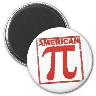 Pi americano imán redondo 5 cm