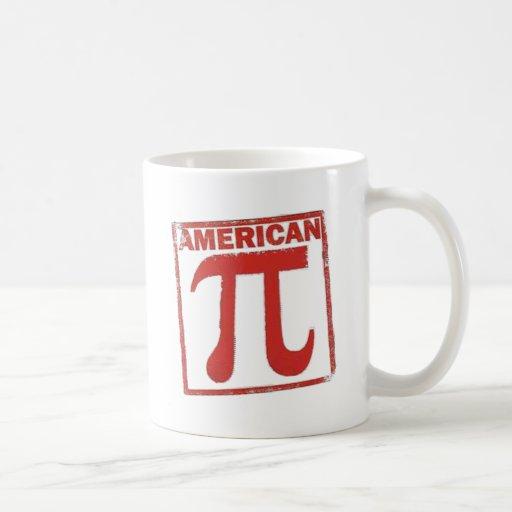 Pi americano taza básica blanca