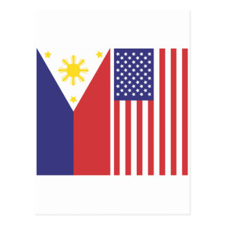 PI and US Flags Postcard