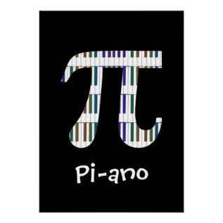 Pi-ano ~ Funny Math Music Geek Poster at Zazzle