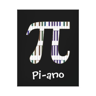 Pi-ano Funny Pi Piano Music Geek Canvas