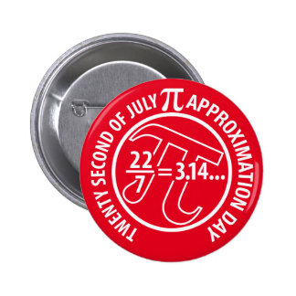 Pi Approximation Day Pinback Button