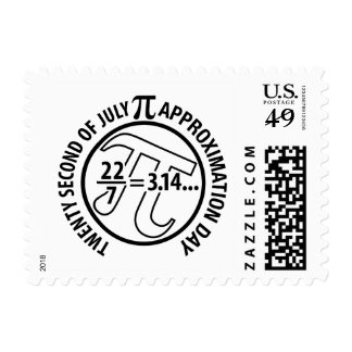 Pi Approximation Day Postage