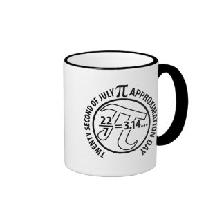 Pi Approximation Day Ringer Coffee Mug
