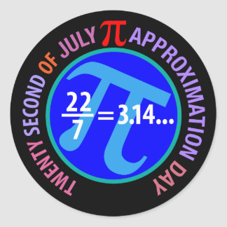 Pi Approximation Day Classic Round Sticker