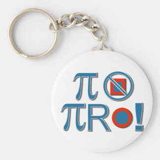 Pi Are Not Square! Key Chain