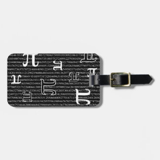 Pi are Square Bag Tags
