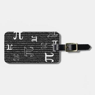 Pi are Square Bag Tags