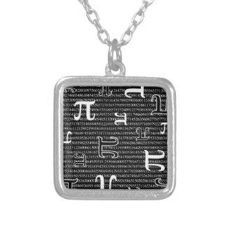 Pi are Square Square Pendant Necklace