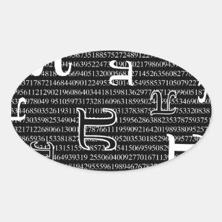 Pi are Square Oval Sticker