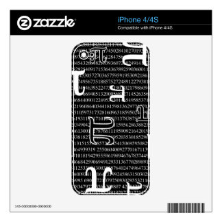 Pi are Square Decals For iPhone 4S