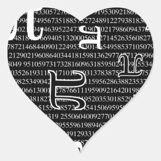 Pi are Square Heart Stickers