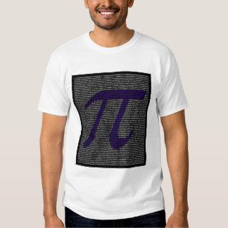 """¡""""Pi"""" - arte del número de 5000 dígitos! ¡ROPA! Playeras"""