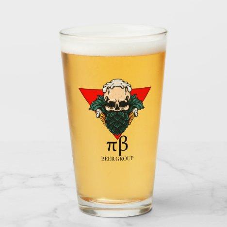 Pi Beta Beer Group Glass