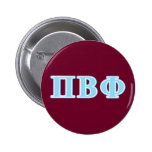 Pi Beta Phi Blue Letters 2 Inch Round Button