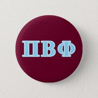 Pi Beta Phi Blue Letters Button