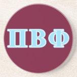 Pi Beta Phi Blue Letters Drink Coaster