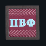 """Pi Beta Phi Blue Letters Jewelry Box<br><div class=""""desc"""">Check out these official Pi Beta Phi designs! Personalize your own Greek merchandise on Zazzle.com! Click the Customize button to insert your own name, class year, or club to make a unique product. Try adding text using various fonts &amp; view a preview of your design! Zazzle&#39;s easy to customize products...</div>"""